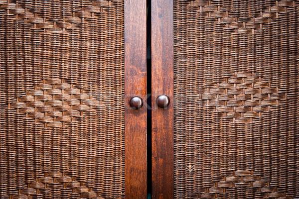 Houten deuren mooie home achtergrond moderne Stockfoto © trgowanlock
