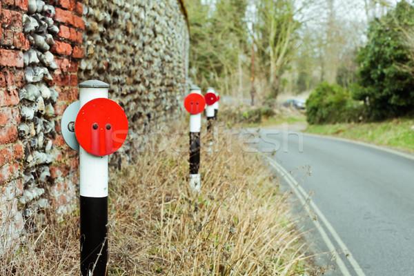 Réfléchissant côté rural route Angleterre herbe Photo stock © trgowanlock