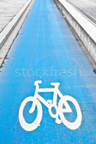 цикл пути синий город спорт здоровья Сток-фото © trgowanlock