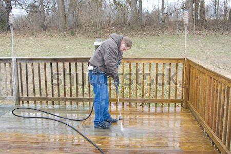 Pressure washing deck Stock photo © Trigem4