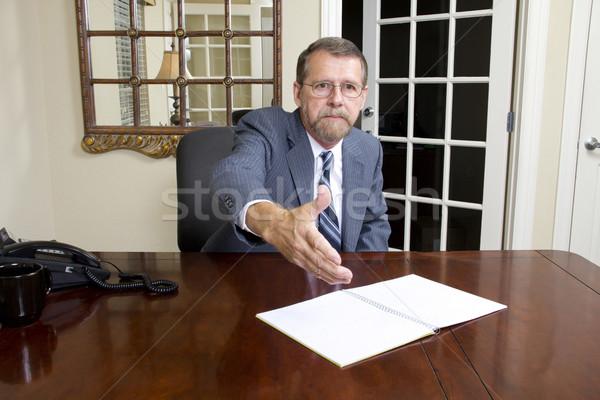 Ofis borç subay yerel banka görüşme Stok fotoğraf © Trigem4