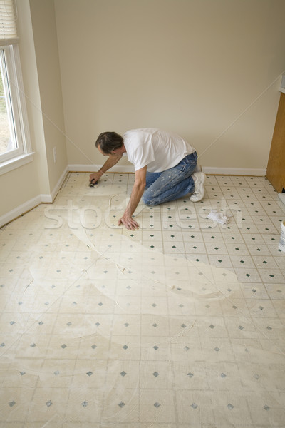 Installing new flooring Stock photo © Trigem4
