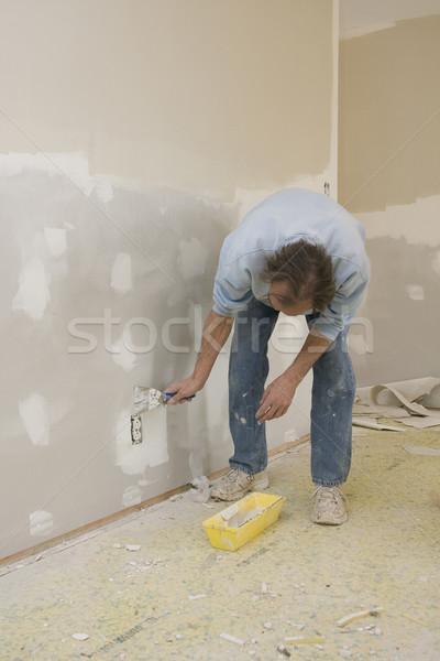 Werknemer plek huis muren klaar Stockfoto © Trigem4