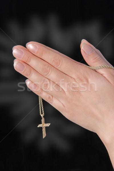 Praying (isolated) Stock photo © Trigem4