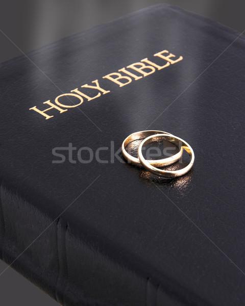 Bible & wedding bands  Stock photo © Trigem4