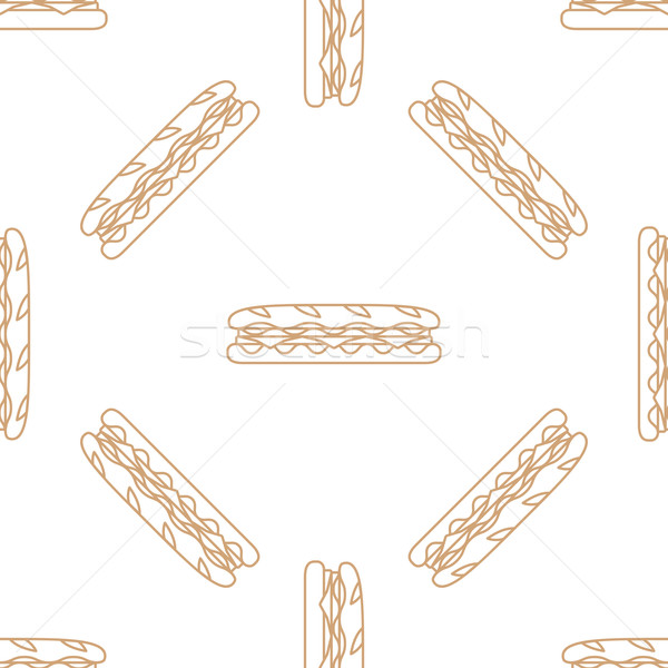 ストックフォト: サンドイッチ · ベクトル · ブラウン · 金