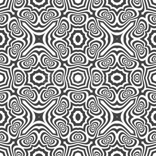 Optische kunst abstract vector monochroom Stockfoto © TRIKONA