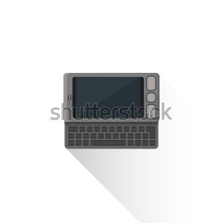 Vector stijl grijs qwerty illustratie grijs Stockfoto © TRIKONA