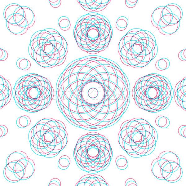 ベクトル 抽象的な 幾何 装飾 サークル ストックフォト © TRIKONA