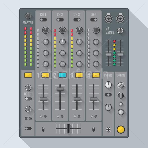 flat style sound dj mixer illustration Stock photo © TRIKONA