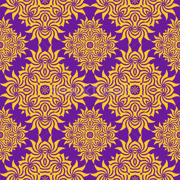 抽象的な オレンジ 紫色 レトロな フローラル ストックフォト © TRIKONA