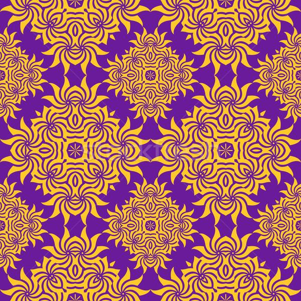 аннотация оранжевый Purple ретро цветочный Сток-фото © TRIKONA