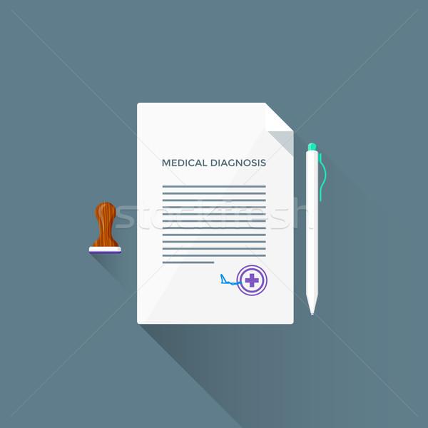 Vector medische diagnose illustratie icon gekleurd Stockfoto © TRIKONA