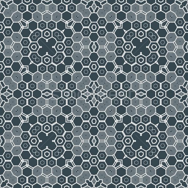 Absztrakt mértani monokróm futurisztikus minta vektor Stock fotó © TRIKONA