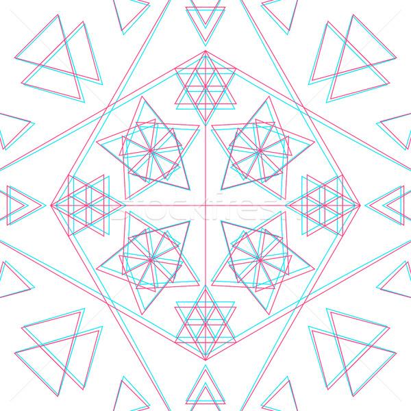 ベクトル 抽象的な 幾何 装飾 三角形 ストックフォト © TRIKONA