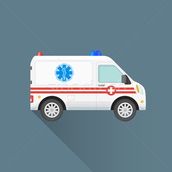 vector flat ambulance car illustration icon Stock photo © TRIKONA