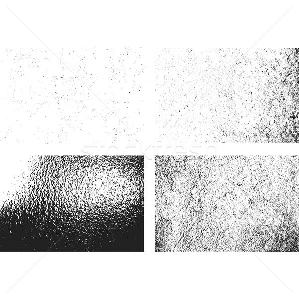 グランジ モノクロ ラフ テクスチャ セット ベクトル ストックフォト © TRIKONA