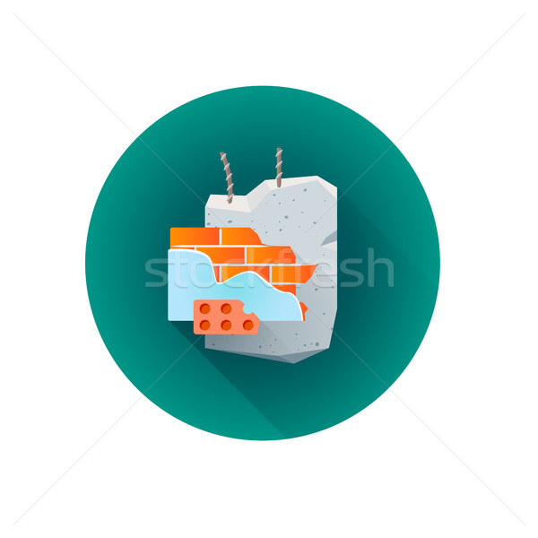 vector building rubble waste icon