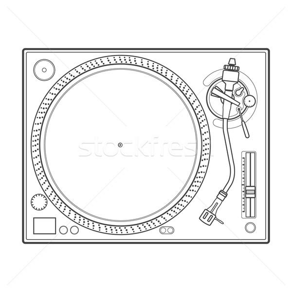 Skicc bakelit lemezjátszó vektor zene terv Stock fotó © TRIKONA