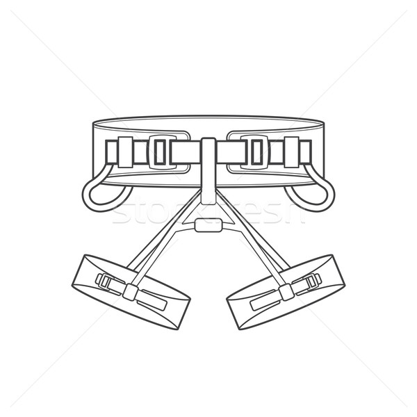 outline alpinism equipment harness icon illustration