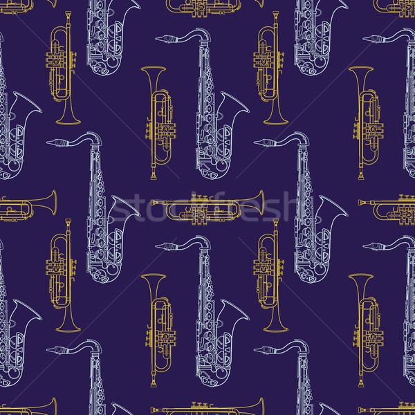 классическая музыка вектора красочный желтый трубы Сток-фото © TRIKONA