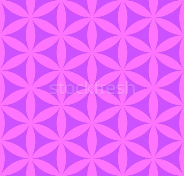 Virág élet végtelen minta vektor ibolya rózsaszín Stock fotó © TRIKONA