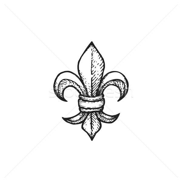 vector engraving Fleur De Lis Stock photo © TRIKONA
