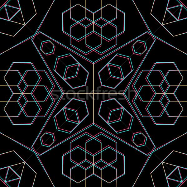 вектора аннотация геометрия украшение знак Сток-фото © TRIKONA