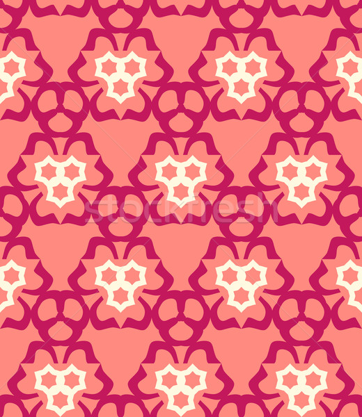 psychedelic abstract colorful red cream pink  seamless pattern