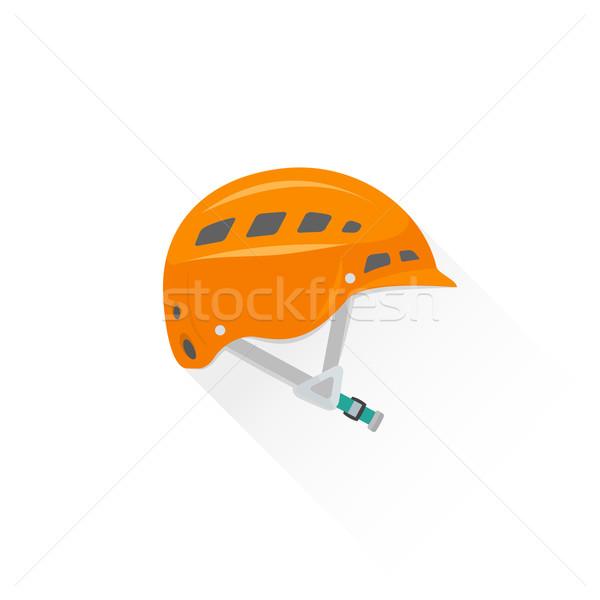 Szín felszerlés sisak ikon illusztráció vektor Stock fotó © TRIKONA