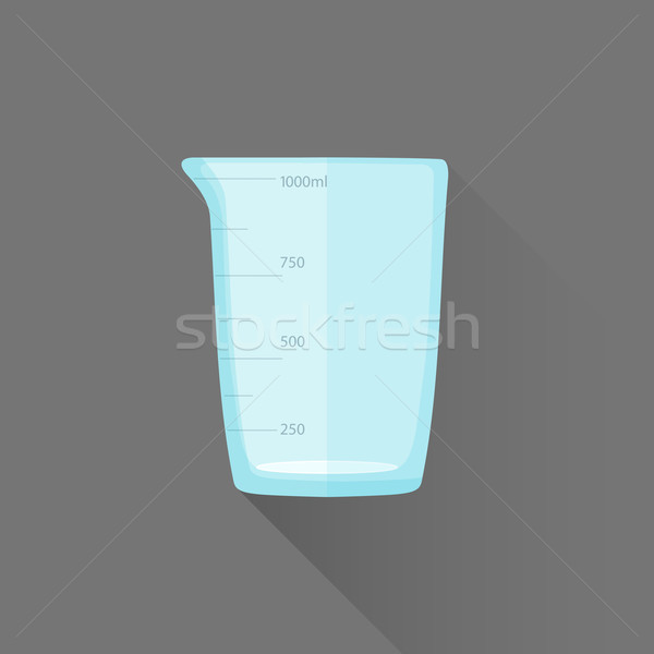 vector flat style measures glass illustration icon Stock photo © TRIKONA