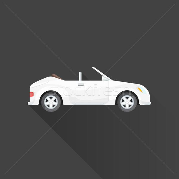 Vektor cabrio roadster autó test stílus Stock fotó © TRIKONA
