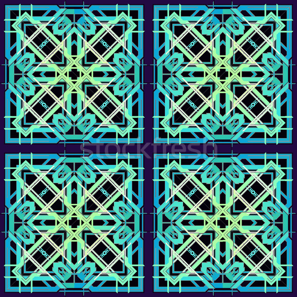 Blu ciano verde colore abstract geometrica Foto d'archivio © TRIKONA