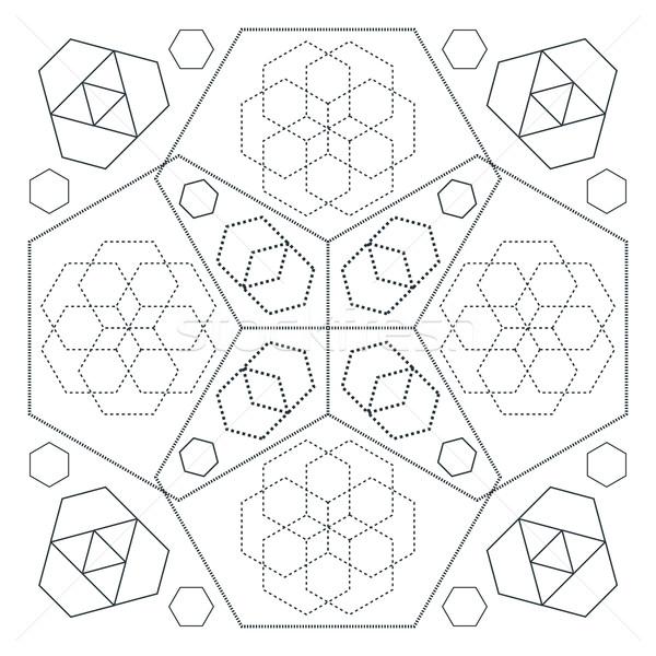 ストックフォト: ベクトル · 抽象的な · 幾何 · 装飾 · にログイン