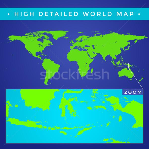 vector high detailed world map Stock photo © TRIKONA