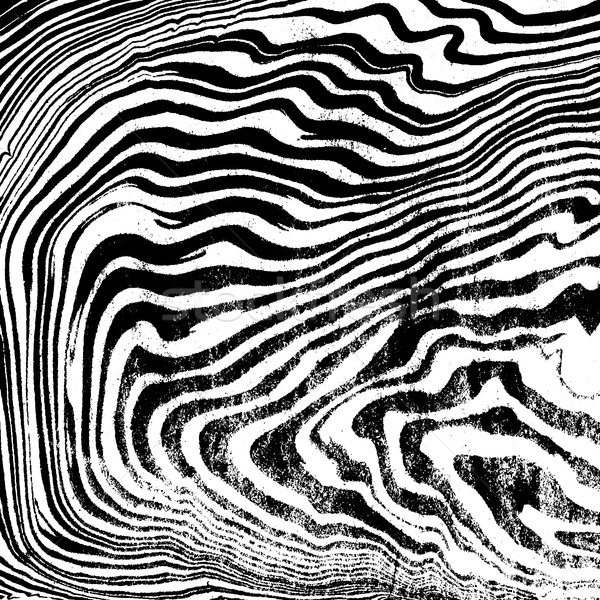 Stock photo: vector monochrome suminagashi abstract background