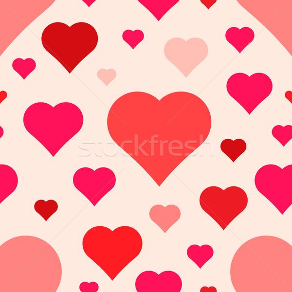 abstract seamless hearts pattern Stock photo © TRIKONA