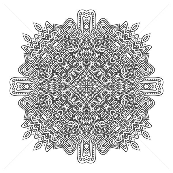 monochrome hand drawn decorative element illustration Stock photo © TRIKONA