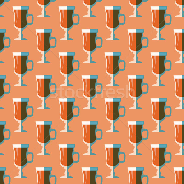 pop art mulled wine glass seamless pattern