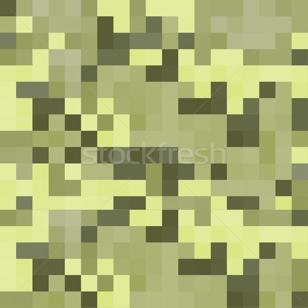 modern pixel camouflage green pattern Stock photo © TRIKONA