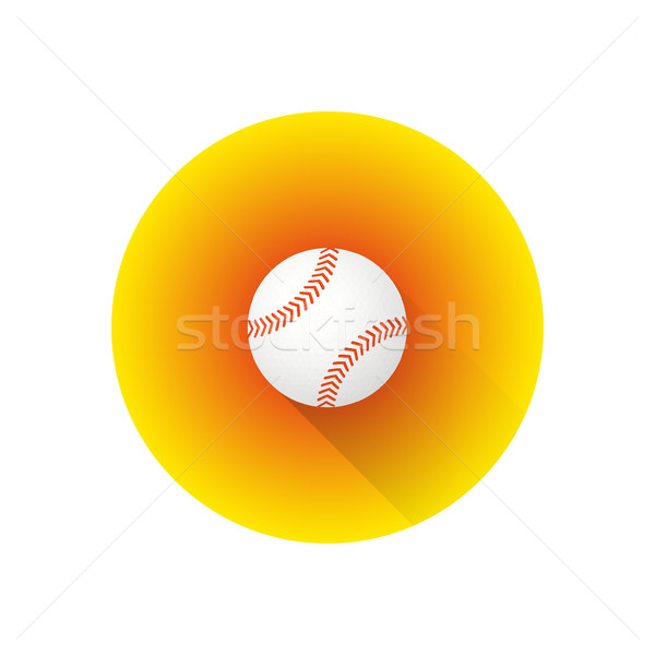 vector flat color baseball ball Stock photo © TRIKONA