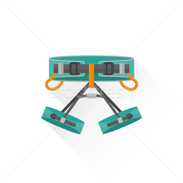 color alpinism equipment harness icon illustration