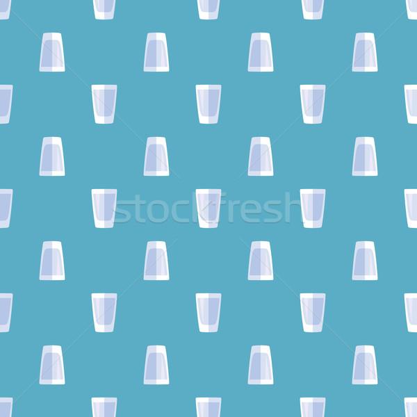 Foto stock: Tiro · vidro · vetor · azul