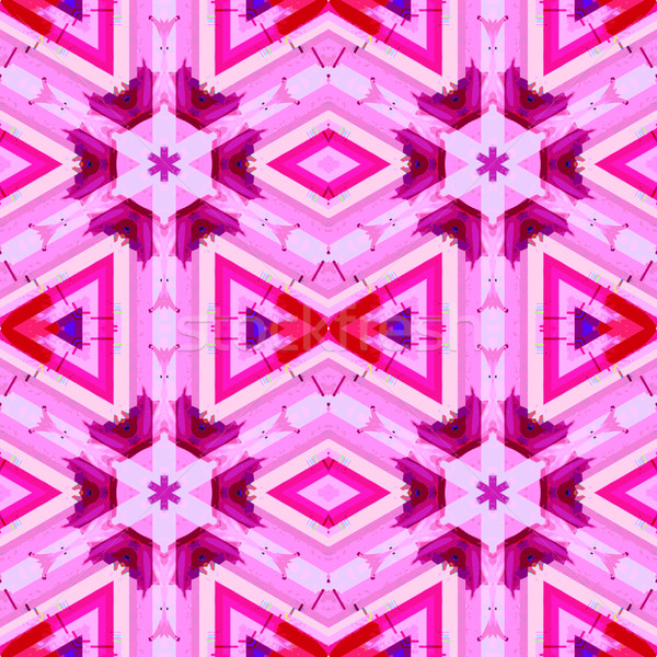 pink violet color abstract kaleidoscopic seamless pattern
