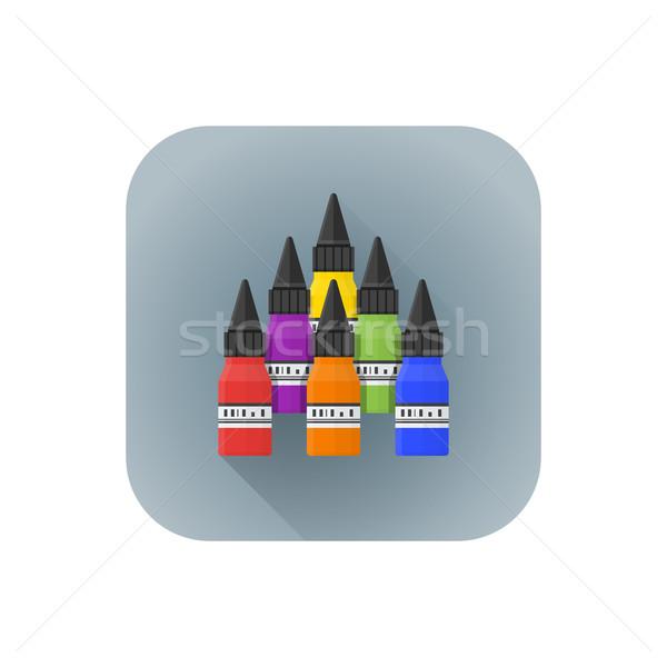 ベクトル 色 入れ墨 カラフル デザイン ストックフォト © TRIKONA