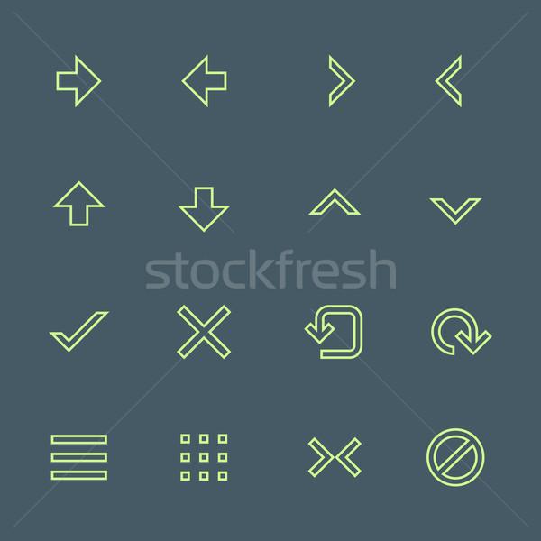 зеленый различный навигация меню Кнопки Сток-фото © TRIKONA