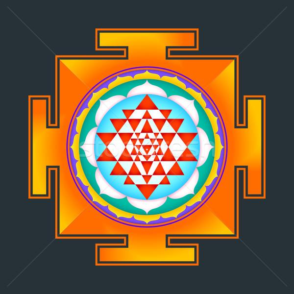 Illustration vecteur hindouisme chakra diagramme Photo stock © TRIKONA