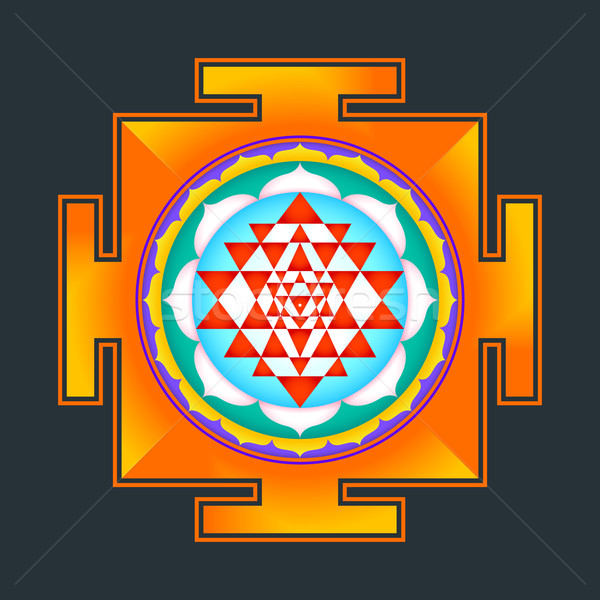 colored Sri yantra illustration Stock photo © TRIKONA