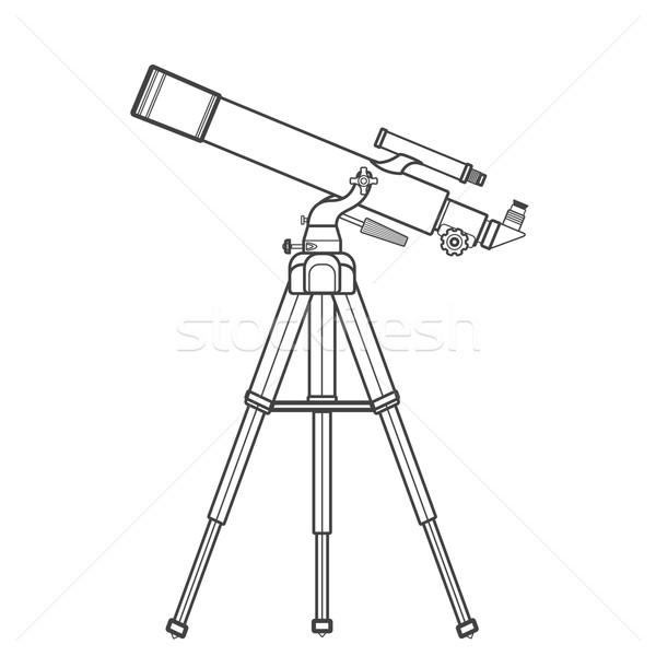 вектора телескопом иллюстрация черный цвета Сток-фото © TRIKONA