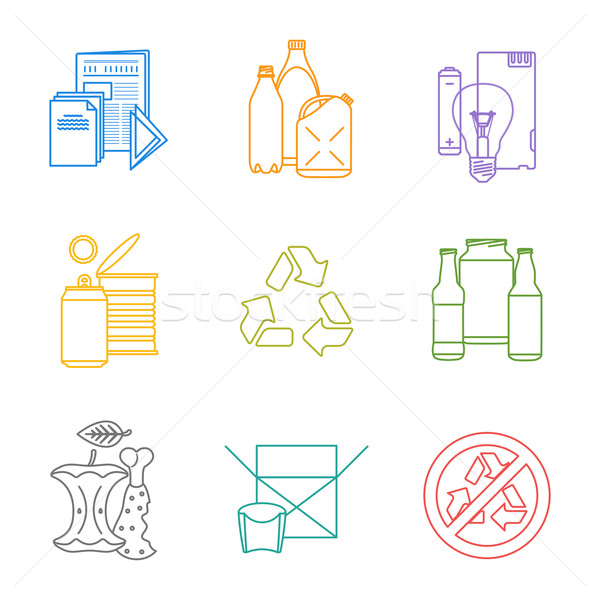 colored groups outline various garbage separate collection Stock photo © TRIKONA